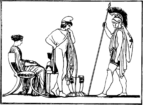 «Илиада». Иллюстрация М.И.Пикова к изданию 1949 (Москва).