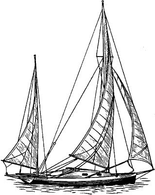 Парусное судно типа иол.