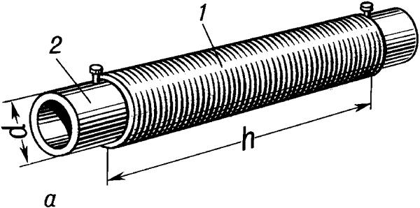 Цилиндрическая однослойная катушка индуктивности.