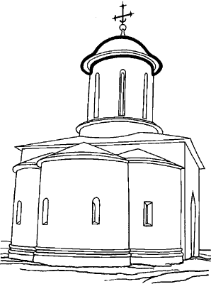 Купол. Древнерусский храм.
