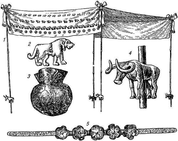Предметы из Майкопского кургана.