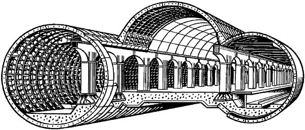 Станция метрополитена колонного типа.