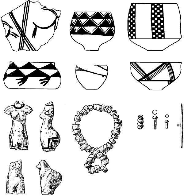 Намазга-Тепе. Находки из древнейшего слоя.