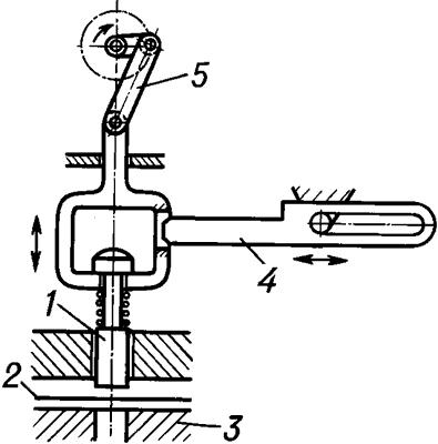 Схема ленточного перфоратора (механизма).