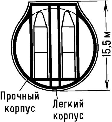 Схема атомной подводной лодки типа «Трайдент».
