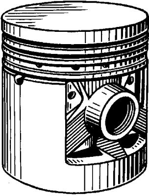 Поршень двигателя внутреннего сгорания.