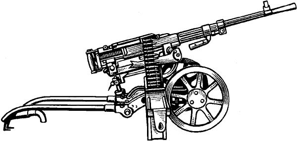 Станковый пулемёт конструкции П.М.Горюнова.