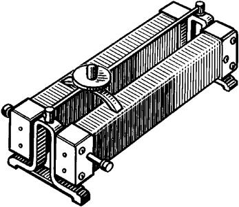Реостат лабораторного типа с непрерывным измерением сопротивления.