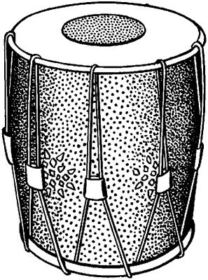 Тамбурин, применявшийся в качестве военного инструмента в средневековой Европе.