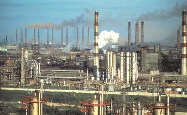 Промышленная зона города Череповец.