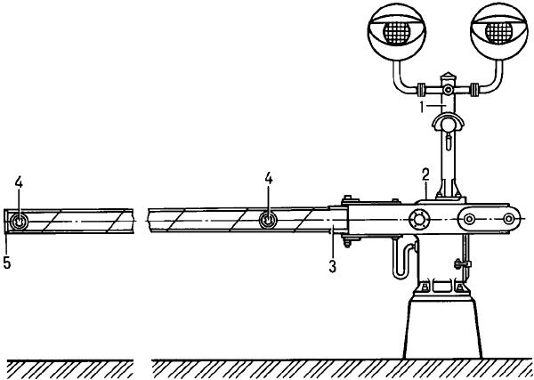 Автоматический железнодорожный шлагбаум.