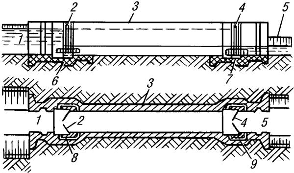 Схема судоходного шлюза.