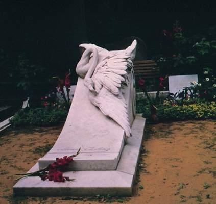 Надгробие Л.В.Собинова наНоводевичьем кладбище.