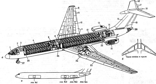 Пассажирский самолёт Ил-62