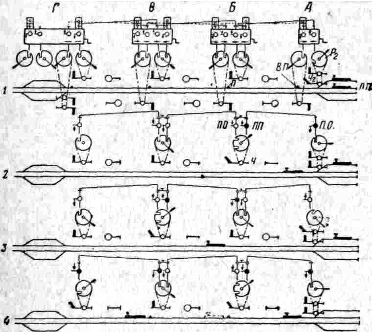 Изображенная схема двухпутной