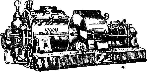 Турбина паровая.  Steam-turbine) - паровой двигатель вращательного типа, отличающийся от паровой машины с...