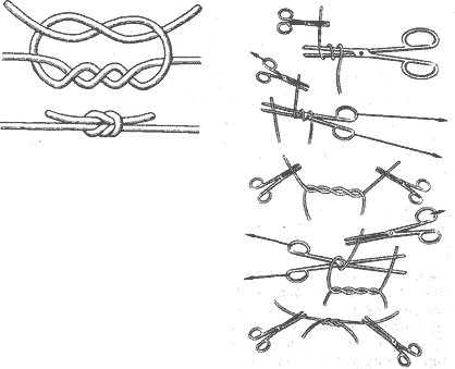 Хирургический узел как вязать
