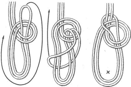 В морской практике существует несколько способов завязывания двойного беседочного узла.