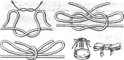 Рис. 95. Двойной рифовый узел