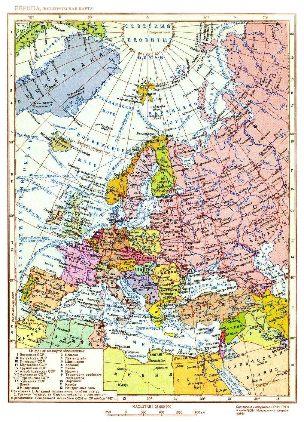 Европа этнографическая карта