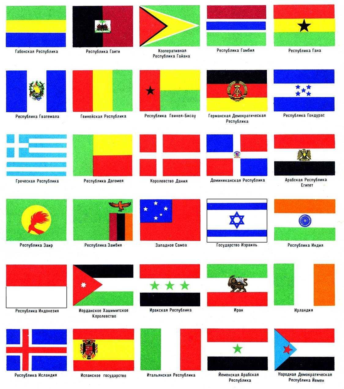 Флаги зарубежных стран