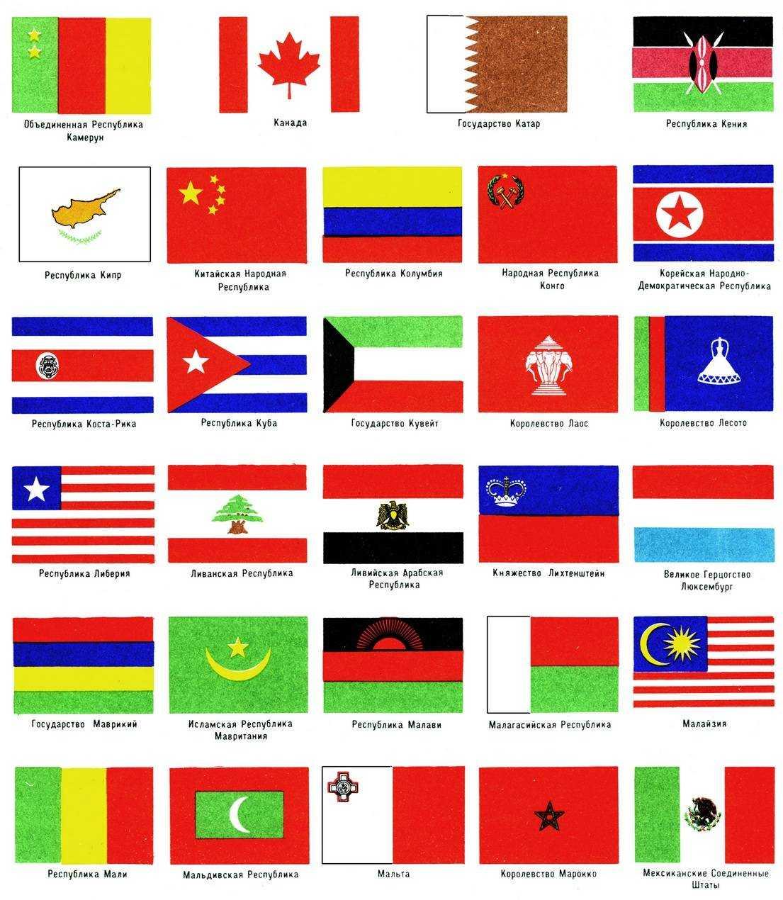 Государственные флаги зарубежных