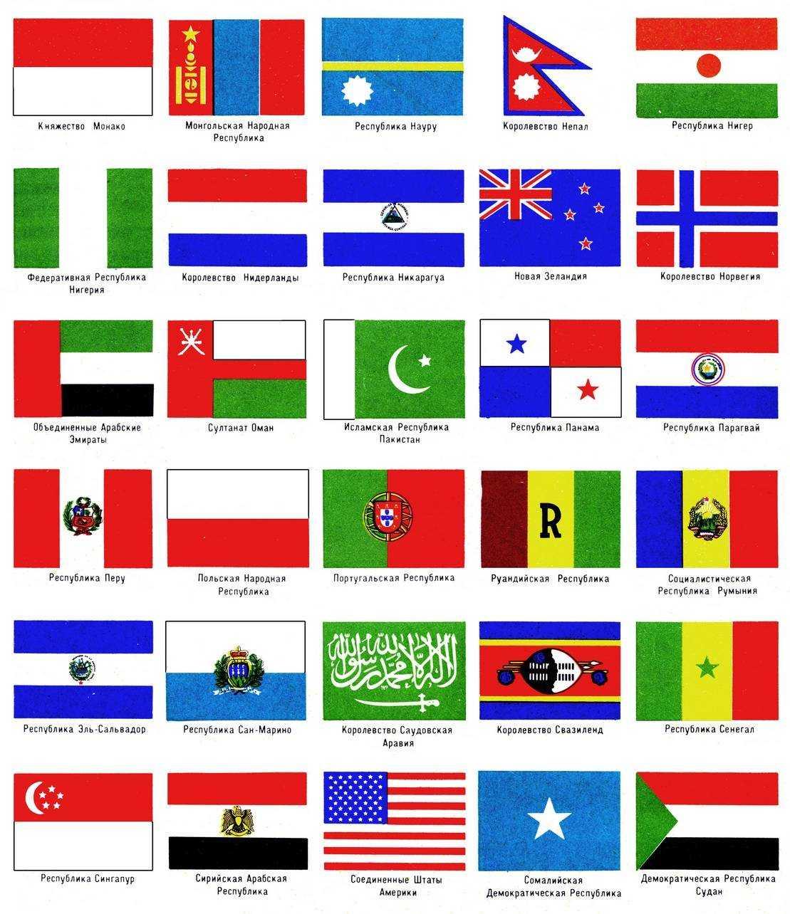 страны и их флаги в картинках