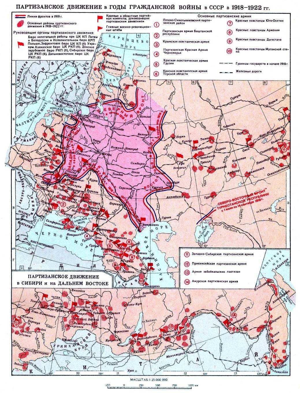 В годы гражданской войны в ссср в 1918 1922