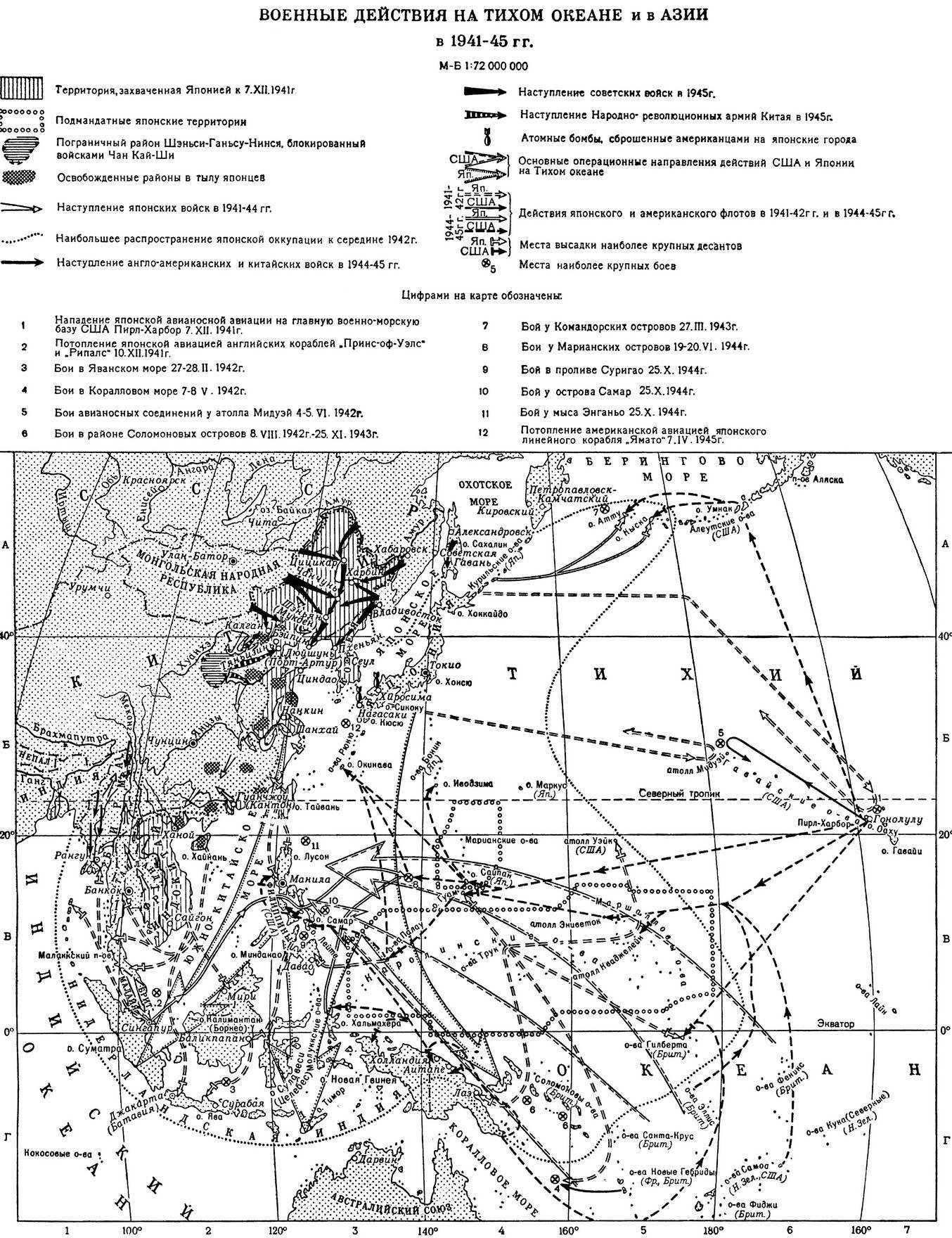 Военные действия на тихом океане и в