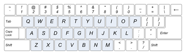for En keyboard layout