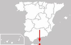 Мелилья на карте