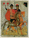 Boris and Gleb (c. 1377, Novgorod).jpg
