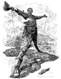 Родес Колоссус: карикатура на Сесила Джона Родса, после провозглашения им планов телеграфической линии от Кейптауна до Каира