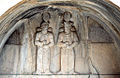 Taq-e Bostan - High-relief Shapur II and Shapur III.jpg