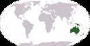 Океания на карте мира