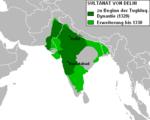 Sultanat von Delhi Tughluq-Dynastie.png