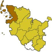 Северная Фризия (район) на карте