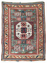 Green Ground Karachopt Kazak Rug Sothebys.jpg