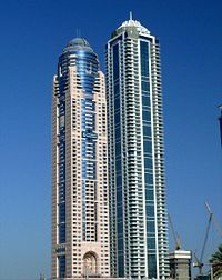 Emirates Marina Hotel & Residence and Emirates Crown on 20 December 2007.jpg