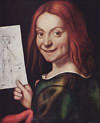Портрет мальчика с рисунком куклы