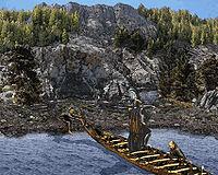 Спазз Матикус высаживается на берег Андуранских гор