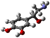 Норадреналин: вид молекулы