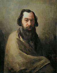 Портрет А. К. Саврасова  работы И. Волкова, 1884