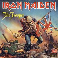 Обложка сингла «The Trooper» (Iron Maiden, 1983)