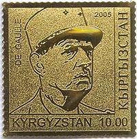 Stamp of Kyrgyzstan degaule.jpg