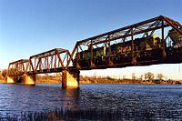 Железнодорожный мост на реке Бразос