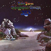 Обложка альбома «Tales from Topographic Oceans» (Yes, 1973)