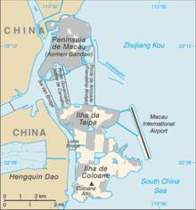 Макао Китай где находится на карте мира, какая страна, история города