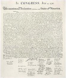 Где была подписана декларация независимости США?