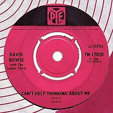 Обложка сингла «Can't Help Thinking About Me» (David Bowie with The Lower Third, {{{Год}}})